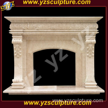 Travertine Marble French Stone Fireplace Mantel Surround